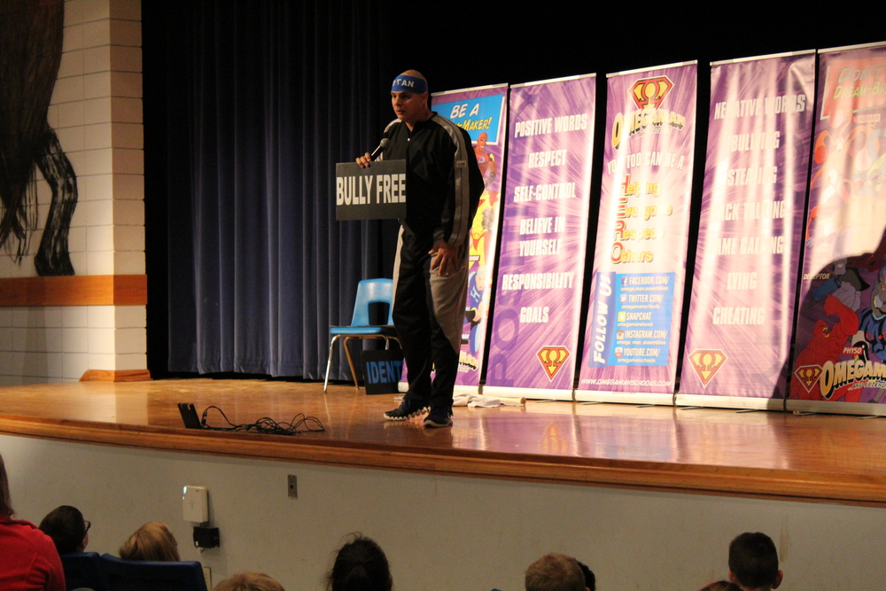 Titan Visits PES for Anti-Bullying Message