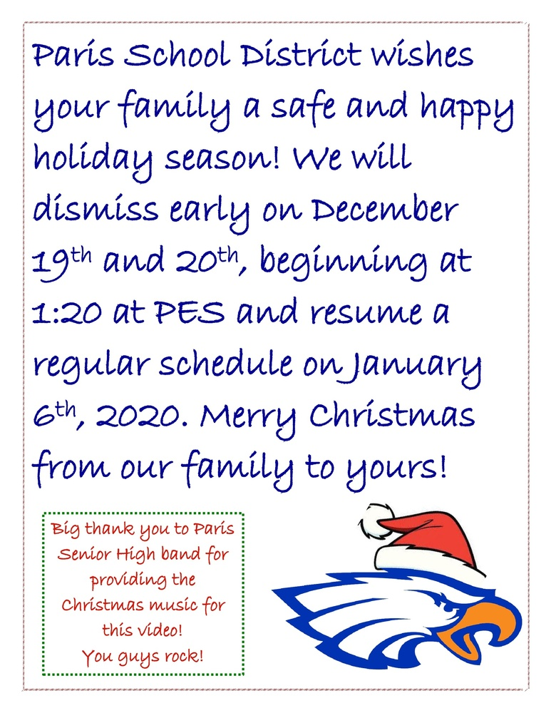 Merry Christmas from your Eagle Family!
