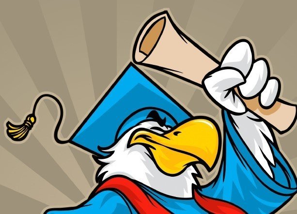 Image result for eagle studying cartoon
