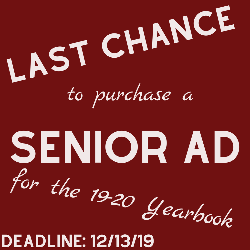 senior ad deadline