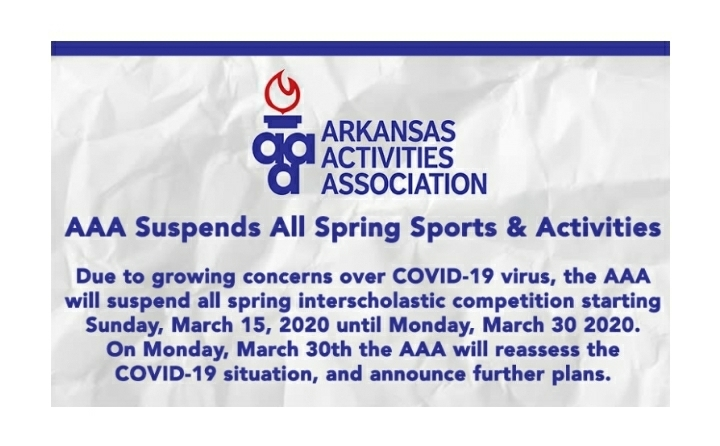 AAA suspends spring sports